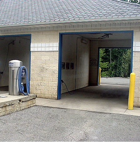 Coin Operated car wash bays